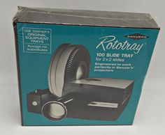 Rototray 100 New Slide Tray for 2x2 Slides Works in Vintage Sawyer's Projectors  #Sawyer