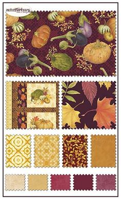 Autumn Hues fabric line by Rebecca Baer for Penny Rose Fabrics—Subscribe to our newsletter at http://www.rileyblakedesigns.com/newsletter/