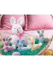 Crochet - Easter Bunny & Babies - #AC01546