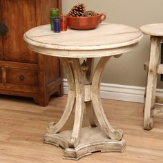 Wooden Street Round Table (Indonesia) | Overstock.com Shopping - The Best Deals on Coffee, Sofa & End Tables
