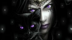 Goth Lady and Black Cat - Scherazar :: OhMyDollz: The game of virtual dollz (doll dollz) - fashion game - Clothing and Flirt, a game about style! #goth #black #BlackCats