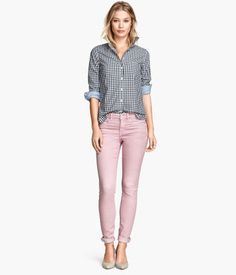 Product Detail | H&M GB - pinned lots of different colors of these trousers as all would be great for you. Can be casual or dressed up with silky top and heals