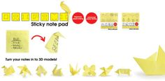 Origami Sticky Note Pad by Suck UK van OHMYBUY op Etsy.