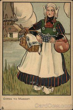 Going to Market - Dutch Girl Dutch Children