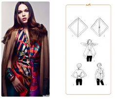 hermes knotting card using two scarves