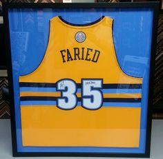 Custom framed Kenneth Faried Denver Nuggets jersey. Custom framed by  FastFrame of LoDo. Framed 23497a6fe