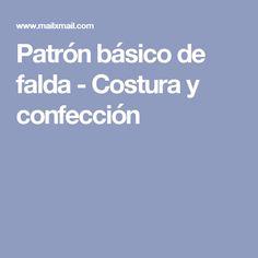 Patrón básico de falda - Costura y confección