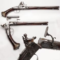 "qsy-complains-a-lot: ""Breechloading snaplock pistol, featuring an uncommon break action. I love these if you hadn't noticed. Bushcraft, Black Powder Guns, Flintlock Pistol, Vox Machina, Treasure Planet, Penny Dreadful, Red Dead Redemption, Cool Guns, Weapons Guns"