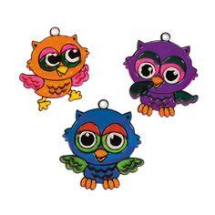Owl Sun Catchers - OrientalTrading.com #OrientalTrading #HalloweenWishList