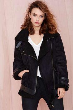 Mustang Faux Leather Jacket - Jackets | Moto | Faux Fur | Jackets + Coats | Faux Fur-ever