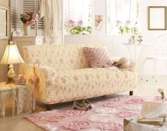 Ana Rosa | I like the fluffy rug and the little cafe set in the back