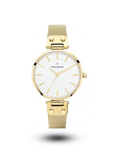 Livia is a classic 34 mm gold watch designed in high-quality stainless steel. Featuring a white dial and mesh straps; Livia embraces everlasting style through our Scandinavian aesthetic. Big Watches, Luxury Watches, Cool Watches, Watches For Men, Swedish Brands, Swedish Design, Watch Brands, Jewelry Branding, Accessories