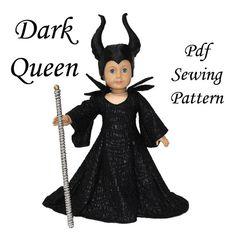 Dark Queen American Girl Doll Clothes Pattern 18 inch Doll pattern PDF