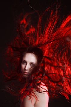 Red gelled flash combined with redhead?  Unexpectedly brilliant.