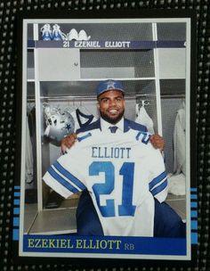 2016 Ezekiel Elliot Custom Dallas Cowboys Rookie Card Ohio state Buckeyes rc #21 in Sports Mem, Cards & Fan Shop, Cards, Football | eBay