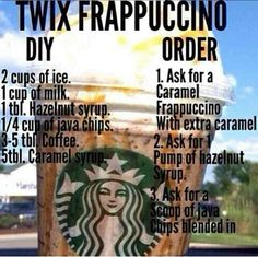 Starbucks Twix Frappuccino More from my siteStarbucks Frappuccino Slime is a no borax slime recipe that is smooth and runs t…Starbucks frappuccino vanille maison – Frappuccino Starbucks Hacks, Starbucks Secret Menu Drinks, Starbucks Coffee, Starbucks Drinks Without Coffee, Bebidas Do Starbucks, Frappuccino Recipe, Smoothie Drinks, Smoothies, Thing 1