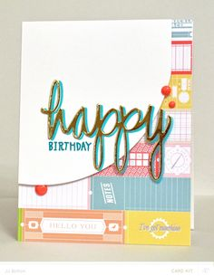 JJ Bolton {Handmade Cards}: Happy Birthday card made with the Silhouette