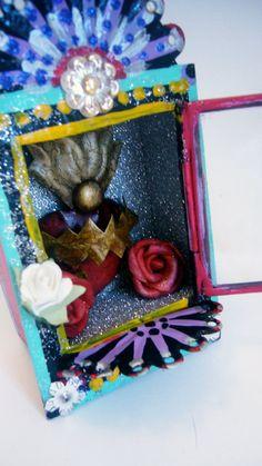 sacred heart mexican tin box