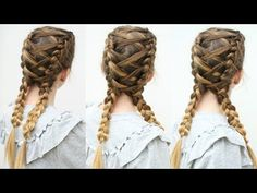 Criss Cross Dutch braids | Braided Pigtails | Braidsandstyles12 - YouTube