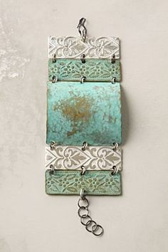 Patchwork Artifact Cuff $128.00 @ Anthropologie - i could make this ! i thnk i will !!!