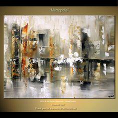 40 Original Abstract Art Palette Knife Painting Modern by osbox, $390.00
