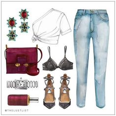 "LINE BOTWIN ""girly illustrations"" #chic #fashion #girly #illustration…"