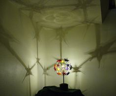 Origami Cohesion Table Lamp Shadow Sculpture by GHIlluminations