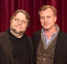 CN and Guillermo Del Toro Guillermo Del Torro, Christoper Nolan, Chris Nolan, The Cooler Movie, Screenwriting, Filmmaking, Masters, Legends, Celebrity