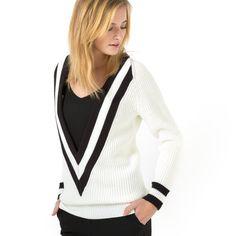 La Redoute Womens Striped Tennis Sweater