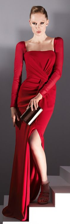 Gorgeous Dress In Red .jaglady