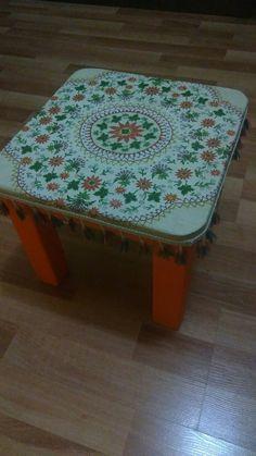 #stool #decoupage #painting