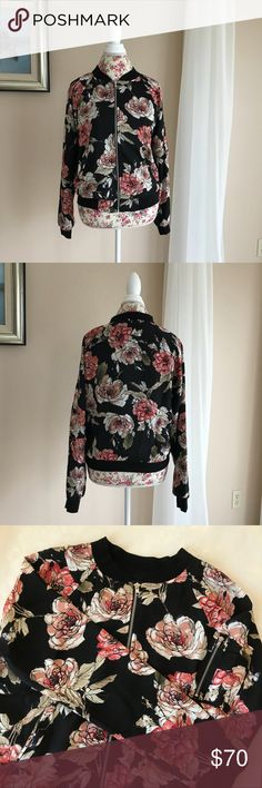 Sanctuary Floral Bomber Jacket This brand new bomber jacket features a pretty floral pattern.  It is a light jacket. Sanctuary Jackets & Coats
