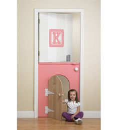 Kids Room Door, would be a great idea for when you first take your toddler out of their crib, you could just shut the bottom door and be able to keep them safe in their room at night!!!