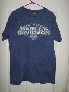 Men's Blue & White HARLEY-DAVIDSON MOTORCYCLES STURGIS SD Shirt, Size M, GUC…