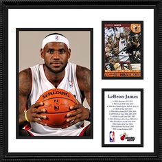 2 Time NBA Champion LeBron James Autograph Miami Heat Signed Framed Card