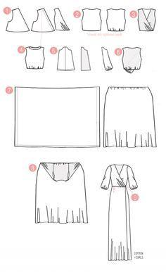 DIY peasant maxi wrap dress