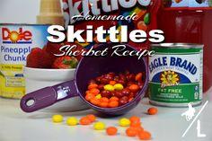Homemade Skittles Sherbet Recipe