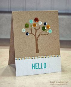 My Impressions: Sequin Hello Tree (Simon Says Stamp October 2013 Card Kit)
