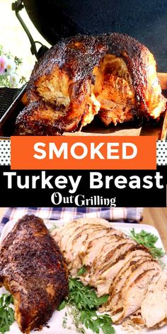 Smoked Turkey Breast is brined and grilled with hardwood smoke for a tender, juicy and flavorful main dish to serve for any holiday or family dinner. Great for small Thanksgiving dinner, Friendsgiving or Christmas gatherings. Smoker Recipes, Barbecue Recipes, Grilling Recipes, Thanksgiving Recipes, Christmas Recipes, Holiday Recipes, Brunch Recipes, Easy Recipes, Keto Recipes