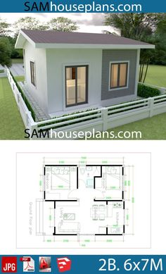 House Plans with 2 bedrooms - Sam House Plans - House Plans with 2 bedrooms – Sam House Plans - Little House Plans, My House Plans, House Layout Plans, Modern House Plans, House Layouts, Small House Plans, Little Houses, Garage Guest House, Bungalow Haus Design