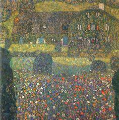 Gustav Klimt Landscapes | Gustav Klimt Landhaus am Attersee Bild