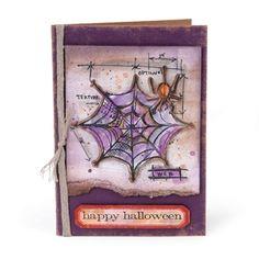 Happy Halloween Spiderweb Card