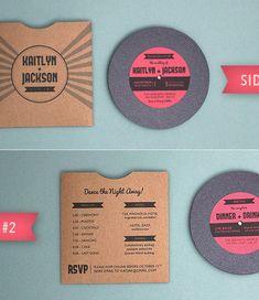 Record DIY Invitiations
