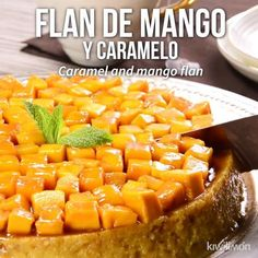 This easy lemon cake recipe makes a moist cake with alternating layers of lemon bavarian cream, and lemon curd filling with lemon buttercream! Mango Recipes, Mexican Food Recipes, Sweet Recipes, Mango Dessert Recipes, Mango Cheesecake, Mango Pie, Flan Cake, Delicious Desserts, Yummy Food