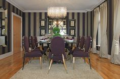 An awe inspiring luxury dining room design with rich coloured interiors Luxury Dining Room, Dining Room Design, Kings Home, Property Development, Colorful Interiors, Table, Inspiration, Furniture, Home Decor