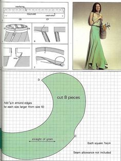 maxi skirt pattern Techniques Couture, Sewing Techniques, Tear, Scalloped Skirt, Dressmaking, Vintage Sewing, Sewing Hacks, Sewing Projects, Sewing Crafts