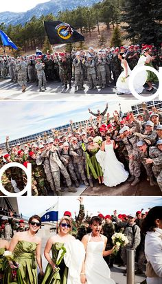 Cutest military wedding ever.  Click to the link because all of the pictures from this wedding are beautiful.