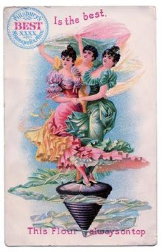 Vintage Graphic – Dancing Ladies – Advertising