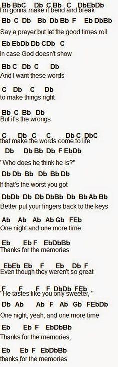 flirting meme slam you all night song chords piano notes