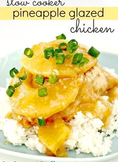 Slow Cooker Pineapple Glazed Chicken
